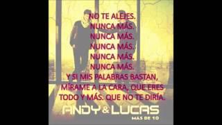 Andy & Lucas - Si unas palabras bastan (Letra)