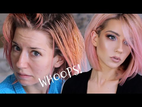 PINK HAIR COLOR CORRECTION & TRANSFORMATION