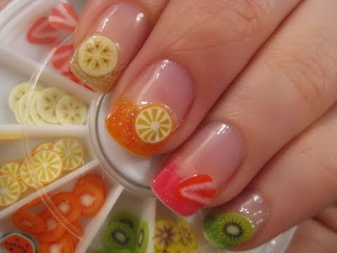 Easy Fruit Nail Art - Easy Fruit Nail Art - YouTube