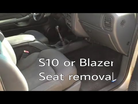How to swap blazer bucket seats out for s10 6040 bench youtube how to swap blazer bucket seats out for s10 6040 bench publicscrutiny Images