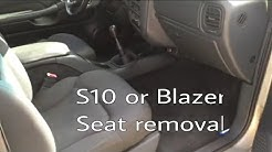 How To: Swap Blazer Bucket Seats Out For S10 60/40 Bench.