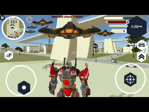► Transformer Robot Optimus Prime Crime Simulator - Robot Shark (Naxeex Robots) Fire Truck