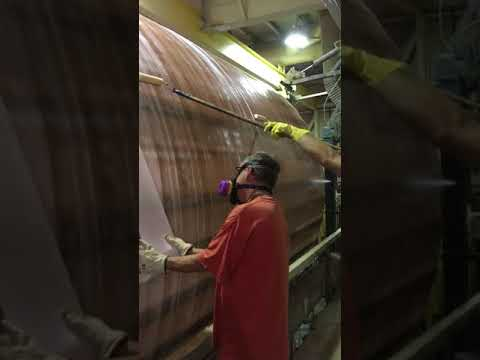 Applying the Corrosion Barrier to a Fiberglass Tank