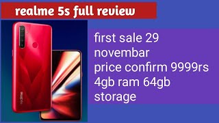 Realme 5s full review price confirm 8999 rs?