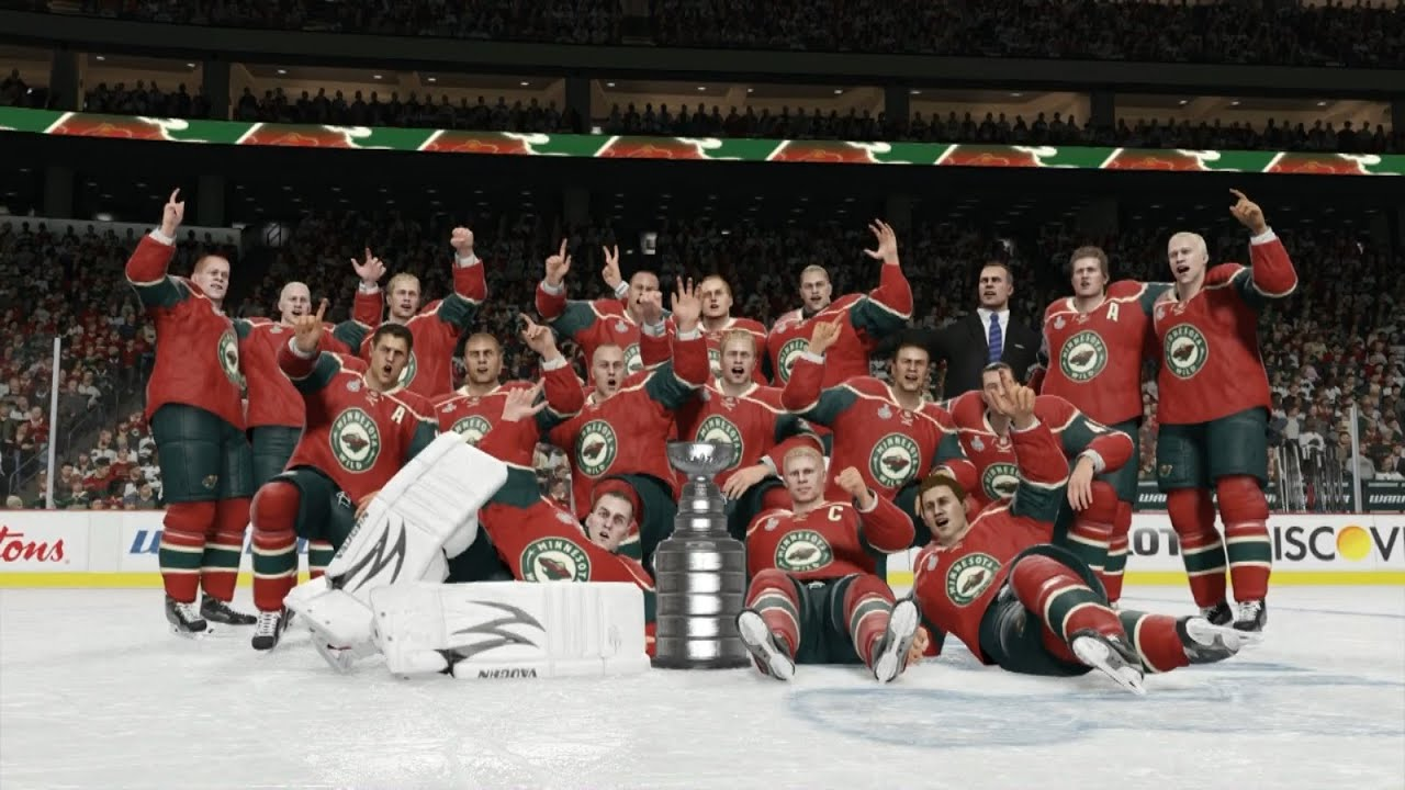 Nhl 15 minnesota wild stanley cup celebration youtube publicscrutiny Choice Image