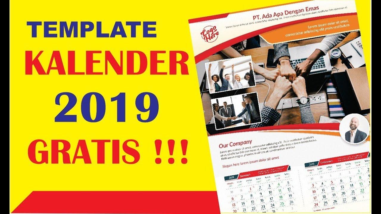 Template Kalender 2019 Cdr Gratis Youtube