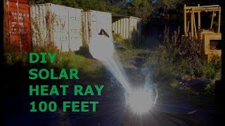 Parabolic Heat Ray solar mirror adjustable focal length 45