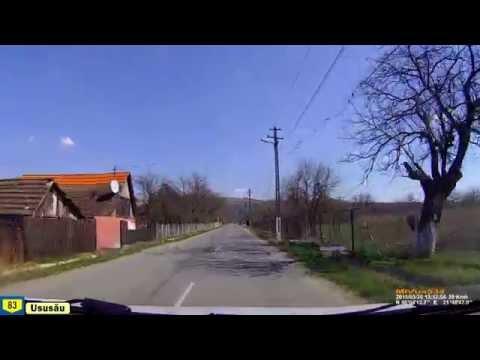 Driving in Arad county (Romania): Pătârş - Ususău - Chelmac. Timelapse 2x