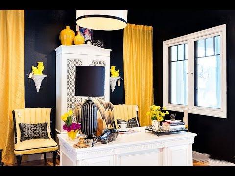 Желтый цвет в интерьере. Различные оттенки