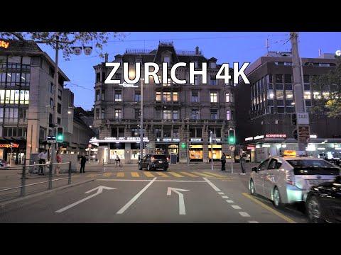 Zurich Switzerland 4K - Sunset Drive