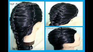 Gorgeous Waterfall Hairstyle With French Braid