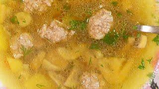 Рецепт грибного супа с фрикадельками   ЛУЧШИЙ