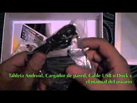 """Android Tablet 7"""" 1.6 Donut M001 (Unboxing Español)"""