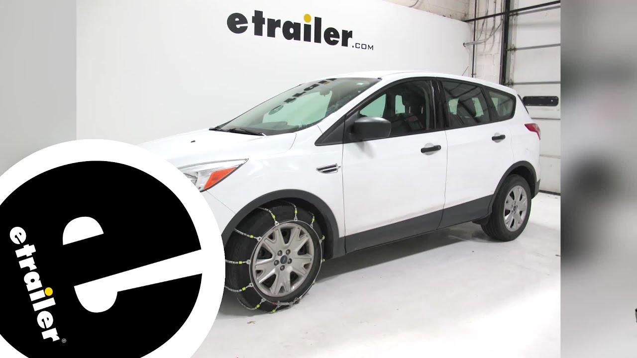2014 Ford Escape Tires >> Glacier Cable Snow Tire Chains Review 2014 Ford Escape Etrailer Com