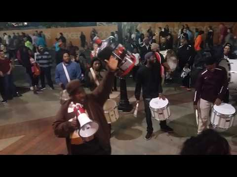 Post game band outside of Spectrum Arena Charlotte, NC. Hornets vs Clippers 2-11-17