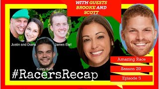 Amazing Race S29 Epi 5 Guest= Brooke and Scott #RacersRecap