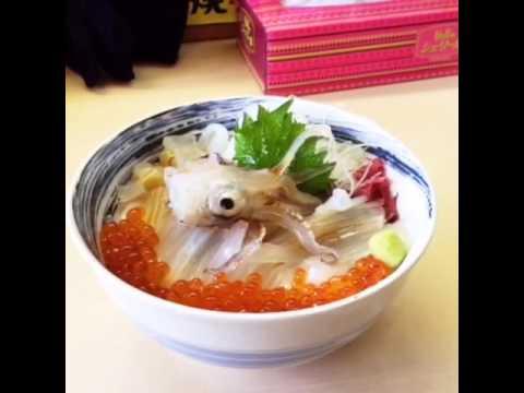 Dancing Squid Donburi - Hakodate