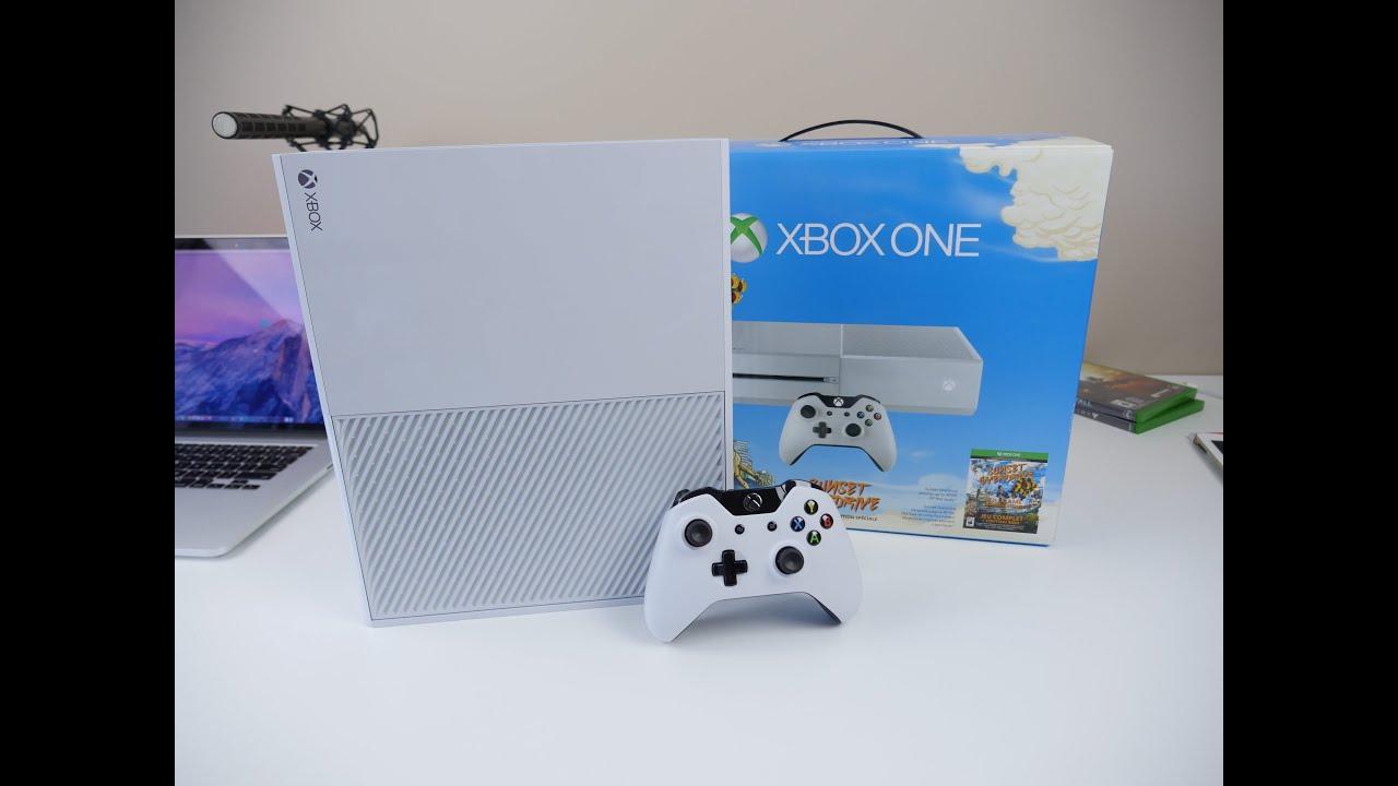 WHITE Xbox One UNBOXING - Sunset Overdrive Bundle - YouTube