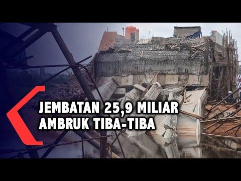 Jembatan Senilai 25,9 Miliar Ambruk Di Pangkalpinang