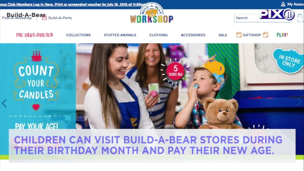 Build-A-Bear starts 'pay your age' deal on birthdays