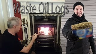 FREE HEAT - Homemade Sawdust and Veggie Oil Logs