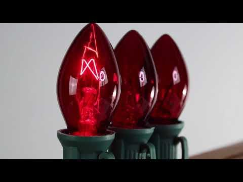 Red C7 Twinkle Bulbs