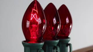 Red C7 Twinkle Bulbs