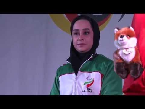 Medals ceremony | P2 women's 10m air pistol SH1 | 2014 IPC Shooting World Championships Suhl