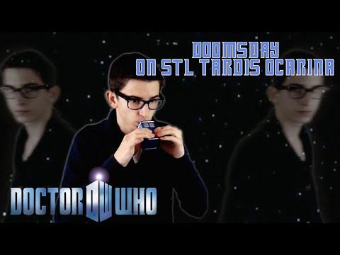 Doomsday (Dark Version) from Doctor Who on STL 6 Hole Tardis Ocarina
