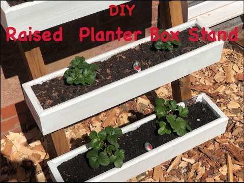 free-diy-modern-raised-planter-box-stand---how-to-build---wood-working