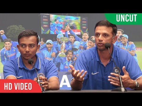 INDIA U19 FULL PRESS CONFERENCE | U19 World Cup Winner 2018