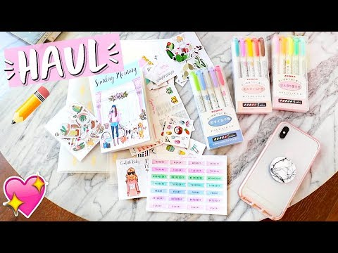 Stationery Haul!! Planner Stickers, Highlighters, and More!