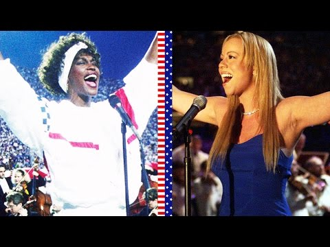 Mariah Carey vs Whitney Houston  The StarSpangled Banner!