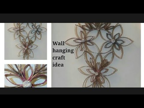 DIY...Wall Hanging Craft Idea. Room decor craft ideas .wall decor ideas