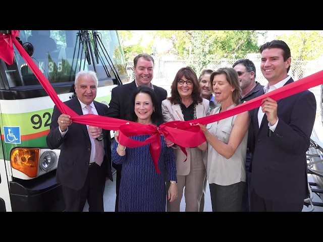 Redwood and Grant Transit Improvement Project Ribbon Cutting