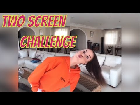 ♦️Two Screen Challenge Musically Compilation #twoscreenchallenge