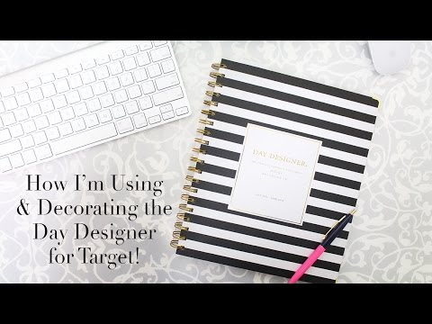 image regarding Day Designer Target titled How Im Taking Decorating the Working day Designer for Focus - YouTube