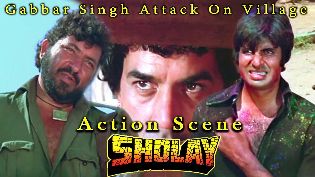 Download Gabbar Singh Attack On Village | Action Scene | Sholay Hindi Movie
