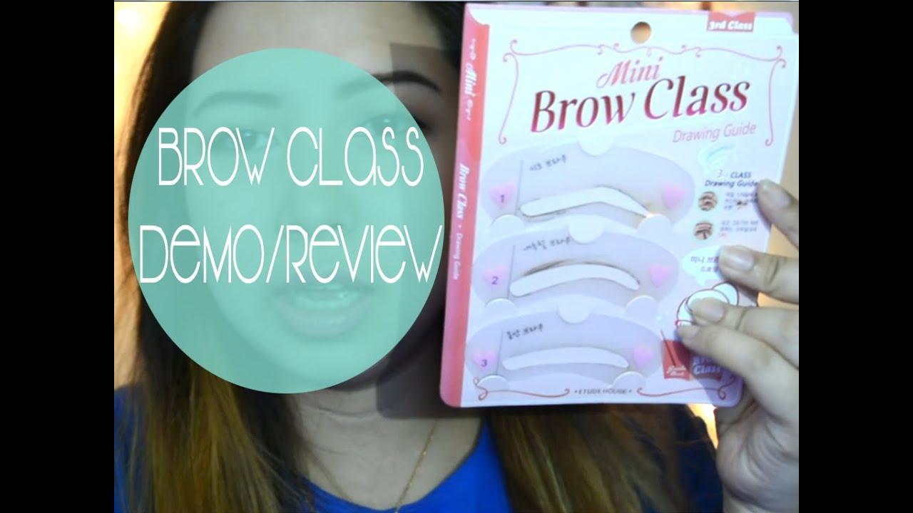 Etude House Mini Brow Class Drawing Guide Testing Ciel Tamray Eyebrow Set Youtube