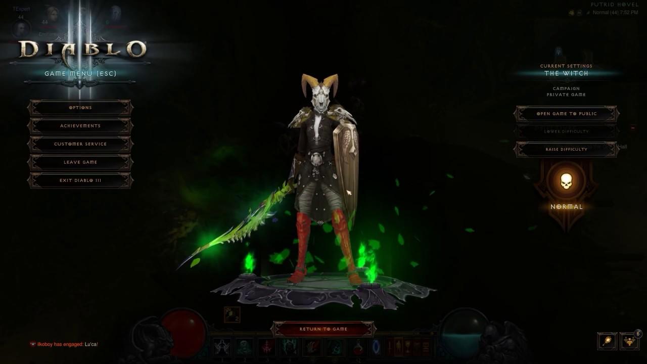 Diablo 3 Seasonal Hero Necromancer Season 14 Last Town End Of The Game Youtube