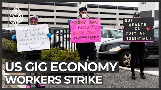 US gig economy workers strike over COVID-19 protection and pay