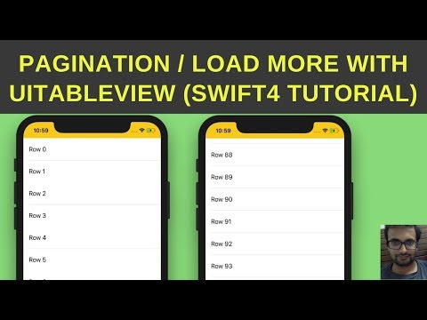 Pagination with UITableVIew - Load more content UITableView - Swift