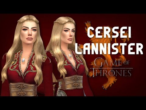 CERSEI LANNISTER - Game Of Thrones    The Sims 4 CAS (+CC List)