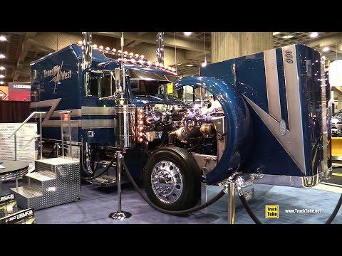 1995 Peterbuilt 379 Amiral Custom Truck by Trans West - Walkaround - 2015 Expocam Montreal