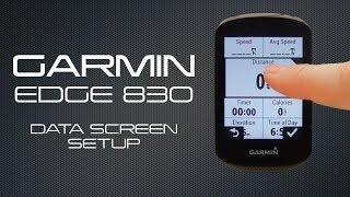 Garmin Edge 830 Data Screen Setup