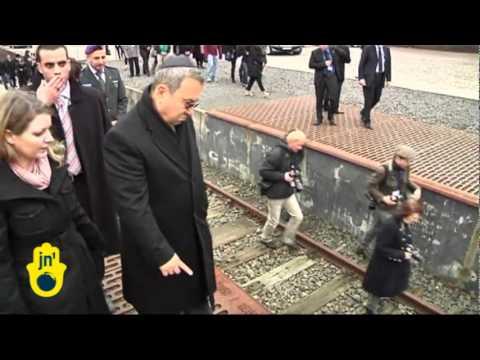 Ehud Barak at Berlin Holocaust Memorial: Israel's Defence Minister and Wife at Gleis 17 Memorial