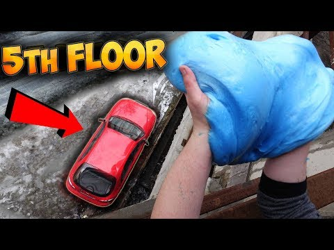 What if I Drop 10 Kilograms Fluffy Slime on my CAR?