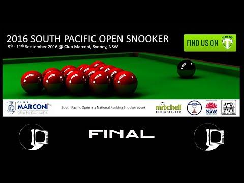 South Pacific Snooker 2016 | FINAL | Shaun Dalitz v James Mifsud