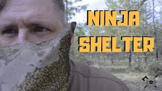 Emergency NINJA CAMPING shelter | Stealth camping like a wilderness boss