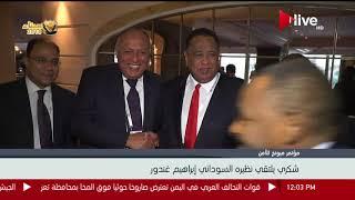 سامح شكري يلتقي نظيره السوداني إبراهيم غندور